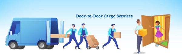 How do door-to-door cargo services work?
