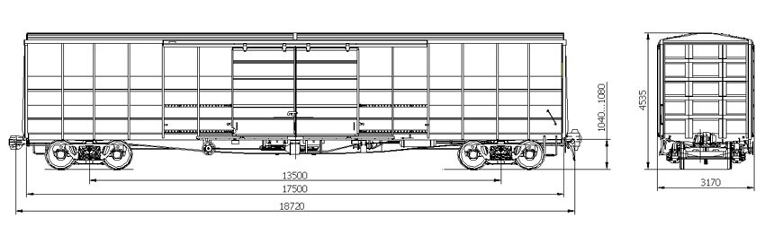 Covered wagon four-axis model11-7038