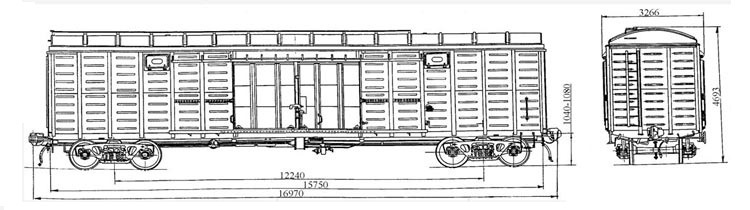 Covered wagon four-axis model11-280