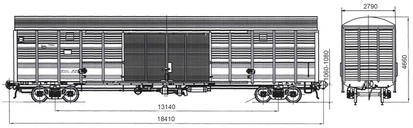 Covered wagon four-axis model11-1807-01